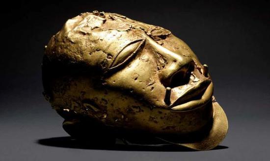 《黄金人头塑像(Gold Trophy Head)》,19世纪,阿散蒂王国