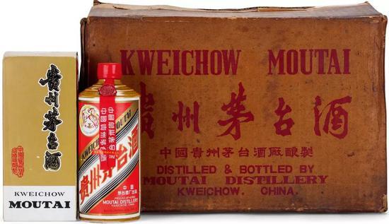 1984年产飞天牌原箱国宴特供黄酱茅台酒  12瓶/540ml(1箱×12瓶)  53度  成交价:RMB 2,472,500