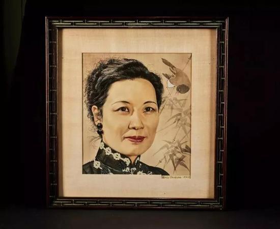 鲍里斯·夏里亚宾  《时代周刊》封面宋美龄肖像  27×31 cm 21×29 cm  成交价:RMB 943,000