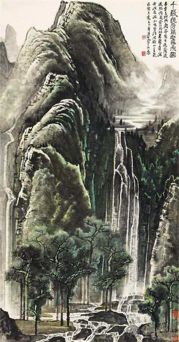 嘉德春拍 李可染《千岩竞秀万壑争流图》1.265亿元拍出.jpg