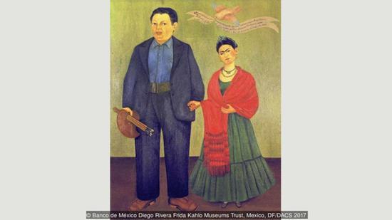 卡罗笔下的自己和丈夫