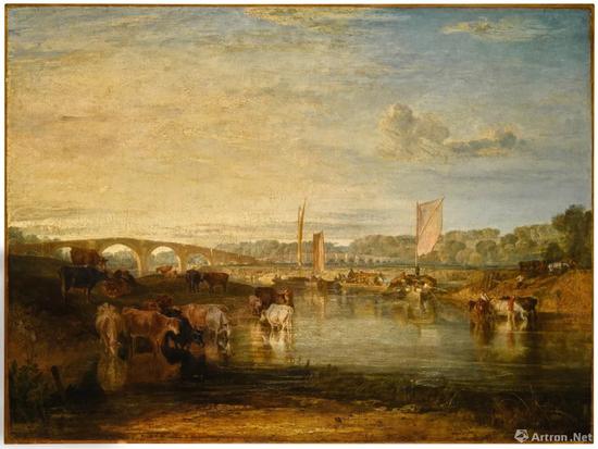 约瑟夫·马洛德·威廉·泰纳,R.A《沃尔顿桥》布面油画 92.7x123.8cm 1806年 成交价:337万英镑