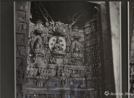 北山石刻《观无量寿佛经变相》中国营造学社 1940年