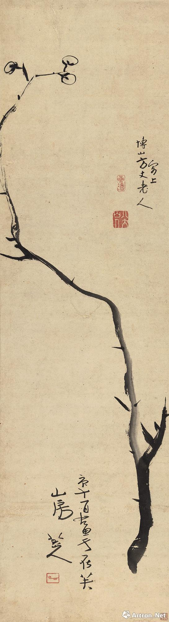 朱耷 《墨梅图》 3450万元 中国嘉德(新买家竞拍)