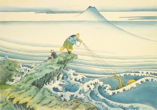 增村博《富岳三十六景·甲州石班泽》(2008)