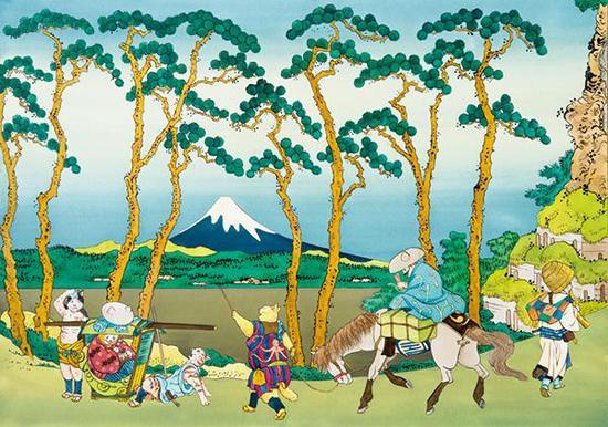 增村博《富岳三十六景·东海道保土之谷》(2012)