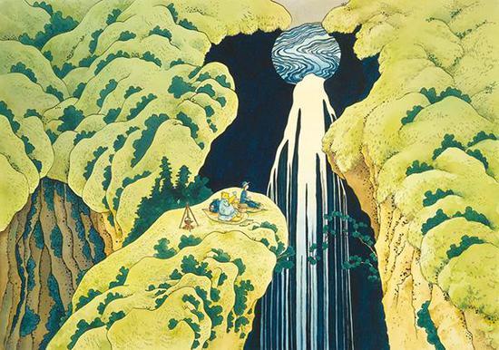 增村博《诸国瀑布巡游·木曾路深处阿弥陀瀑布》(2009)