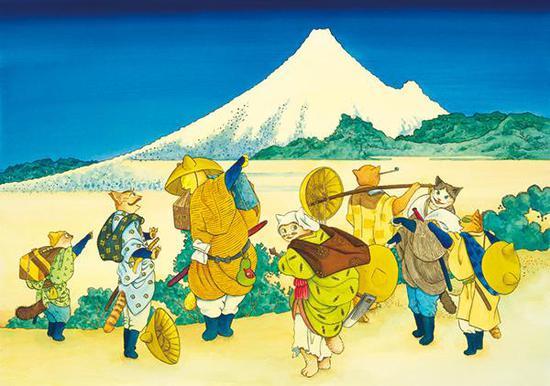 增村博《富岳百景·宝永山出现》(2011)
