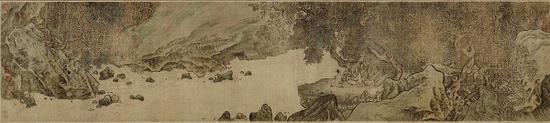 宋人佚名《秋林观泉图卷》 故宫博物院藏