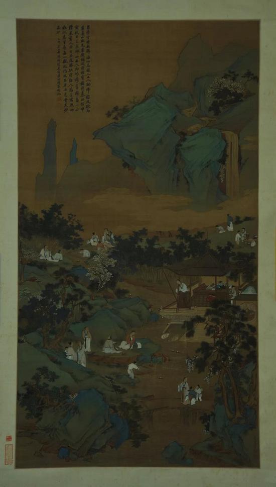 清 吕学《兰亭修褉图轴》广东博物馆