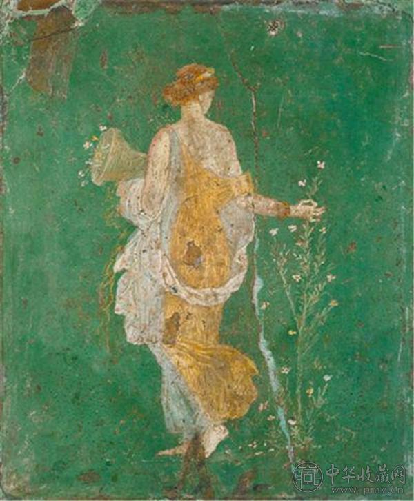 意大利那不勒斯国家考古博物馆藏的庞贝壁画《花神芙罗拉》。.jpg