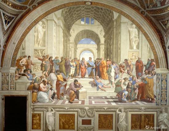 ▲《雅典学院》