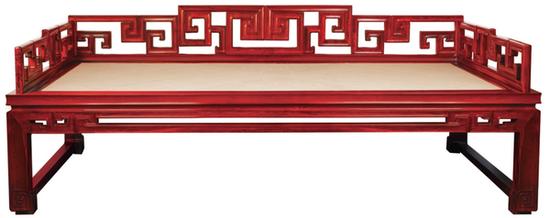故宫博物院监制家具--拐子纹罗汉床