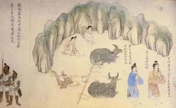 南诏图传里关于农耕的画面 云南省博物馆供图
