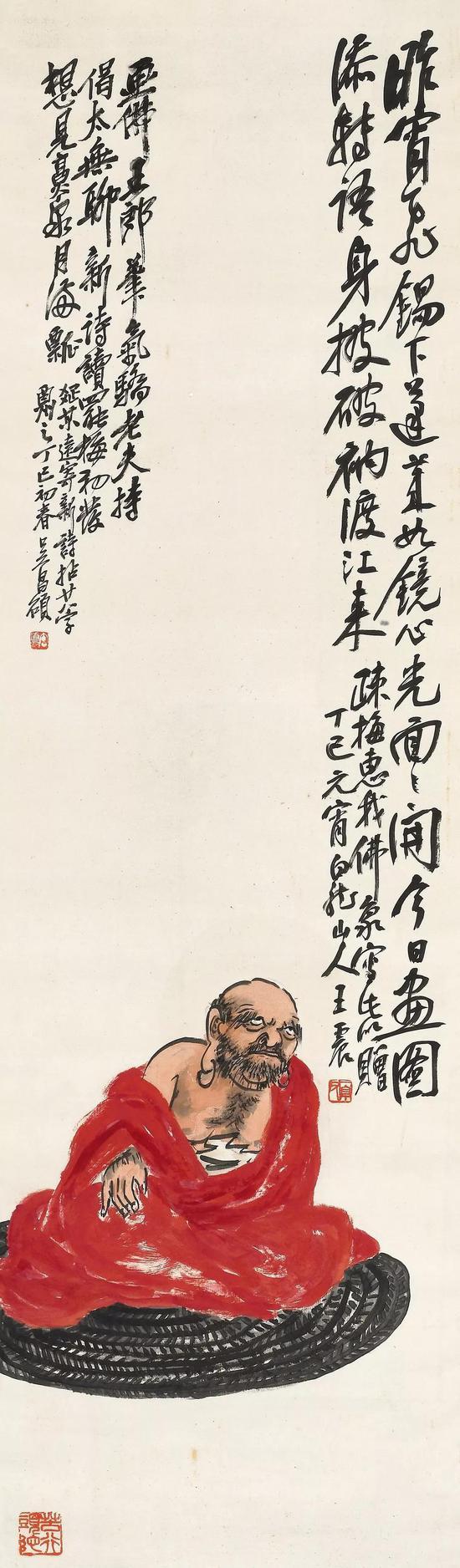 Lot 340 王震(1867-1938)红衣达摩
