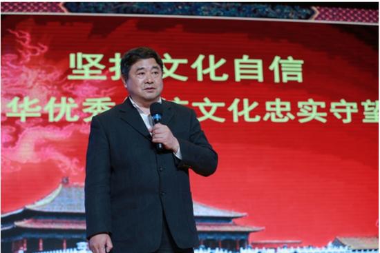 日前,单霁翔在北京一所高校的讲座现场。