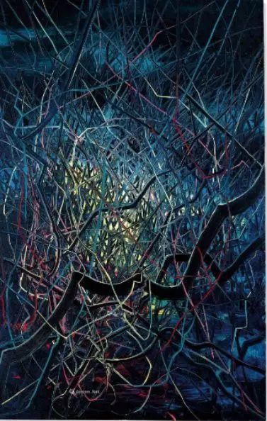 岳敏君《帽子系列》,估价150—250万港币,成交价212万港币。