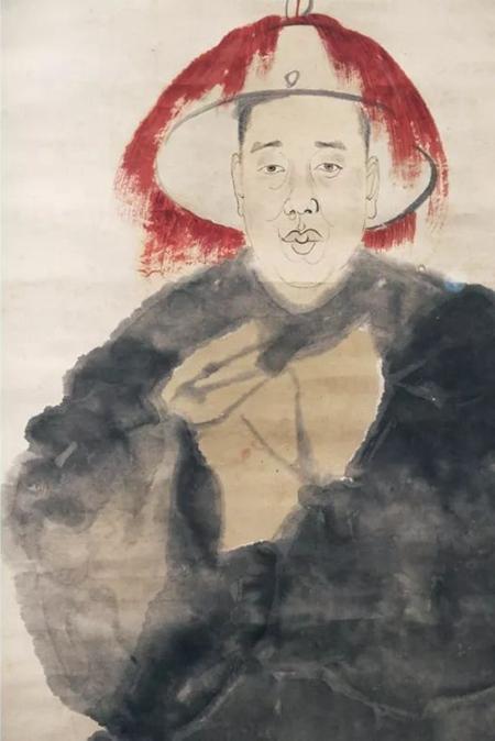 任伯年为吴昌硕作《酸寒尉》(局部)浙江博物馆馆藏