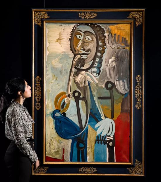 巴布罗?毕卡索《男子与烟斗》油彩画布 1968年作