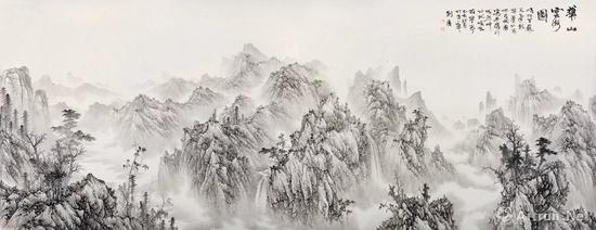 2刘广 2019年作 华山云海图 镜心 RMB 5,900,000-6,500,000