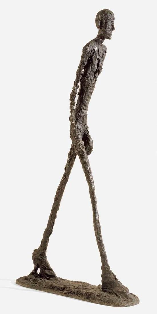 贾科梅蒂,《行走的人》(版本1),1960