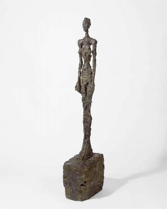 贾科梅蒂,《站立的女子》,1958-59