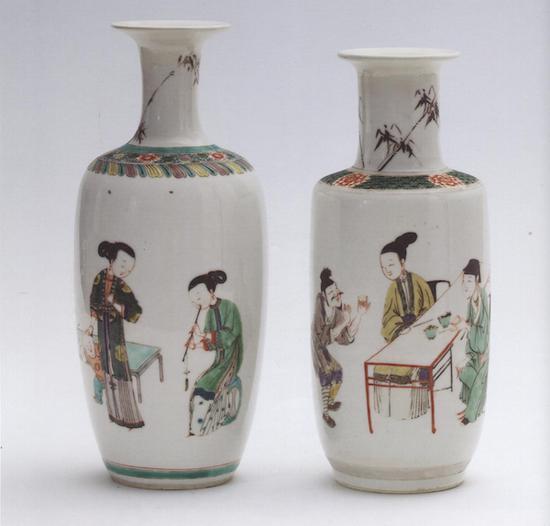 花瓶,清康熙(1662-1722) 德国杜塞尔多夫黑提恩斯——德国陶瓷博物馆藏