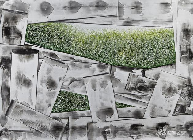 徐巍《滋生21》108x79cm独幅版画2015年