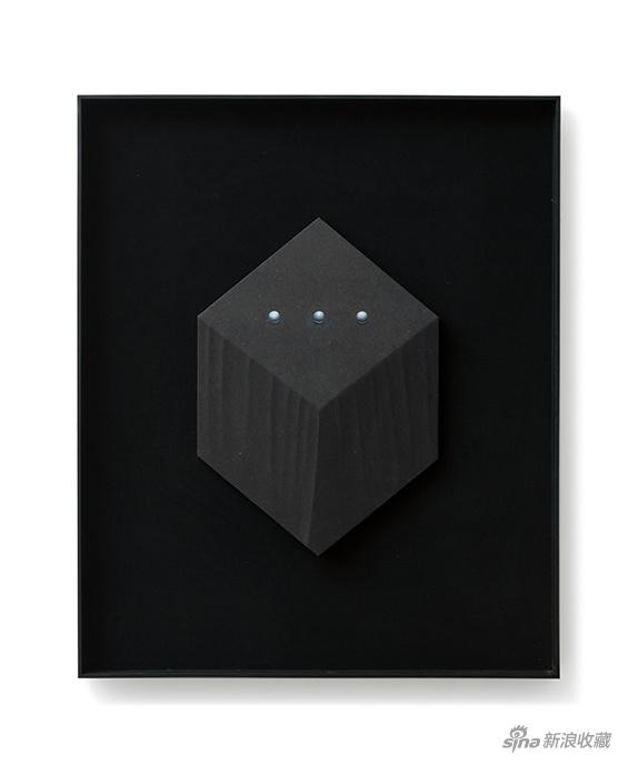 2018_杭春晖 Hang Chunhui 黑珍珠-No.18 Black Pearl-No.18 2018 70x50cm 纸本设色、木刻浮雕 Ink and Color on Paper, Wood Carving in Relief(1)
