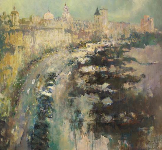 贝家骧,五月的风,布面油画,220x200cm,2017