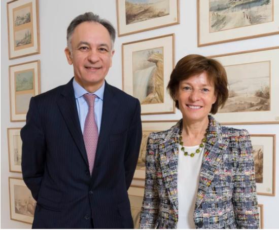 佳士得首席执行官施俊安(Guillaume Cerutti)和前任首席执行官白碧姗(Patricia Barbizet)。图片:致谢佳士得