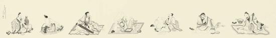 黄山寿《白描人物》。于2011年11月28日在佳士得香港以400,000港元成交